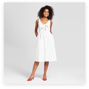 Who what wear white tie front dress